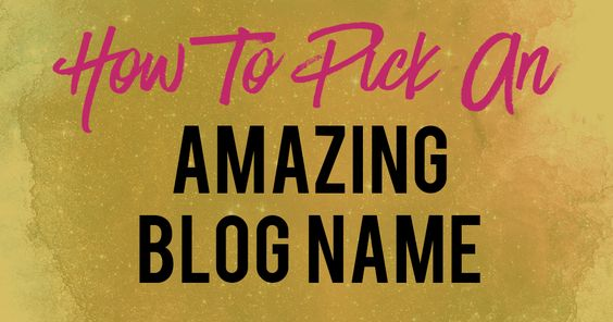 create your blog name